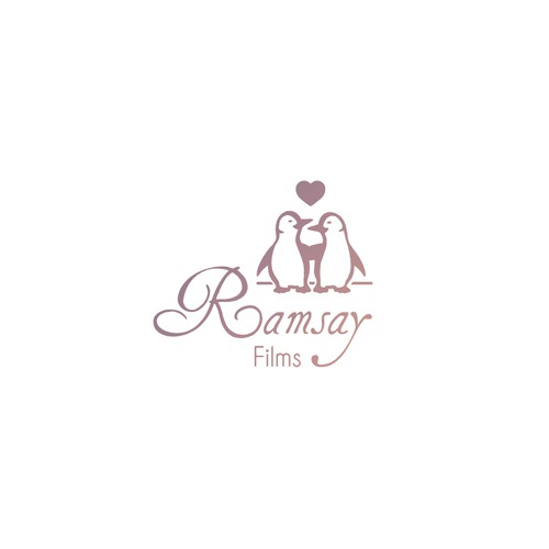 Cinematic logo with the title 'Logo design concept for a startup wedding cinematic video company'