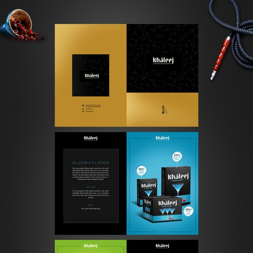 Nightclub design with the title 'Create an Elegant Brochure for Our Brand - Khaleej Tobacco'