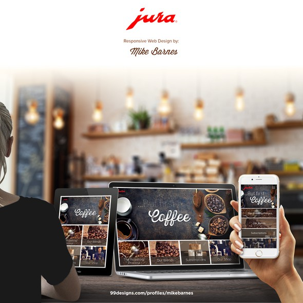Coffee website with the title 'Jura Coffee'