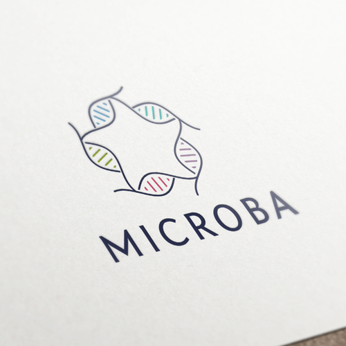 Letterhead brand with the title 'Logo Design & Corporate Identity for Microba'