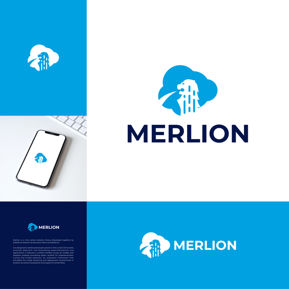 Singapore design with the title 'Merlion Logo | Singapore logo | Lion Logo | Cloud Logo'