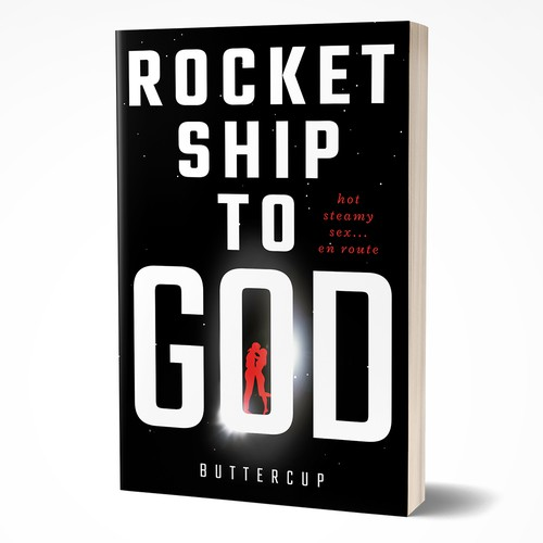 Contrast design with the title 'Rocketship to God'