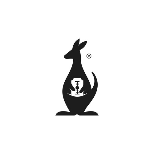 Kangaroo design with the title 'Simple Playful Meaningful Logo Concept for Canguro'