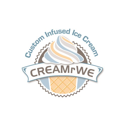 Ice cream logo with the title 'Logo for Ice cream company'
