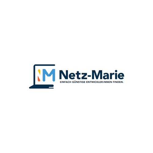 Laptop logo with the title 'Netz-Marie'