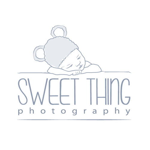 Stroller logo with the title 'newborn photography logo'