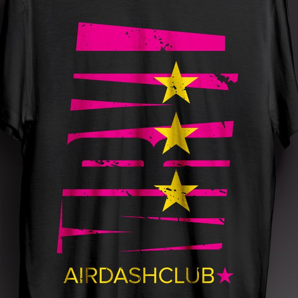 Comic t-shirt with the title 'Marvel Airdash club T-shirt'