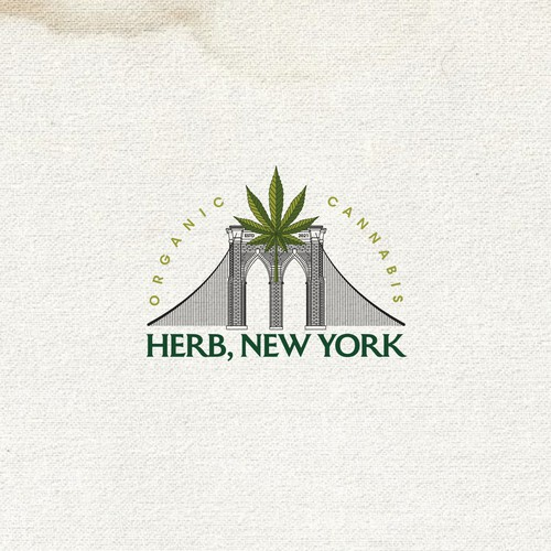 Brooklyn design with the title 'Cannabis - Logo for Sale'