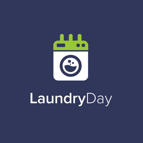 Calendar design with the title 'LaundryDay'