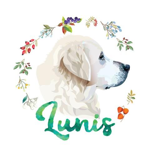 Labrador design with the title 'Logo for e-commerce brand'
