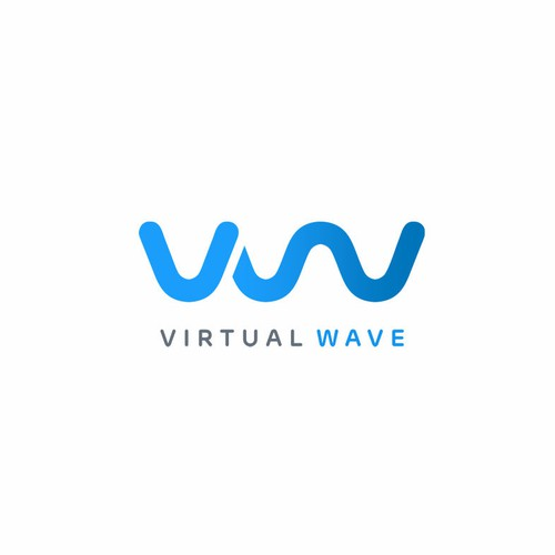 Virtual logo with the title 'Virtual Wave - Digital marketing for lifestyle nrands'