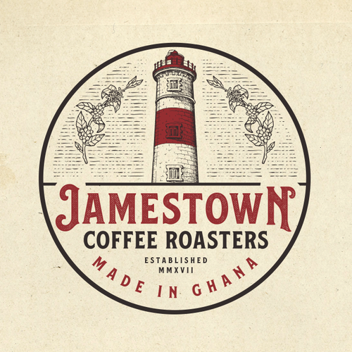 Mature logo with the title 'Logo Design for Jamestown Coffee Roasters'