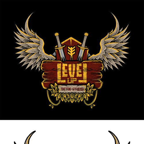Jungle design with the title 'Level Up Sticker'