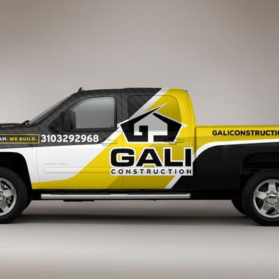 Truck wrap for Gali designs