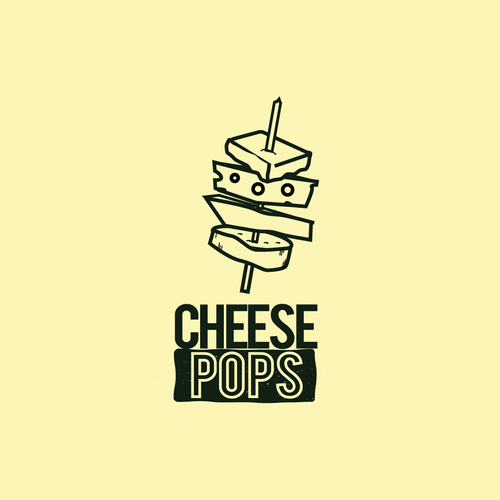 Cheese logo with the title 'cheese pops  logo Brockling based'