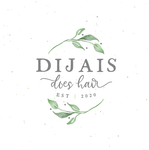 Rustic brand with the title 'Dijais does hair'