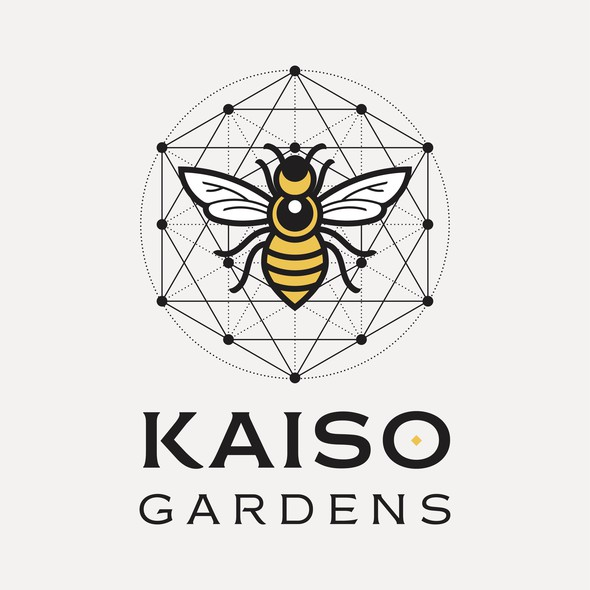 Geometric design with the title 'Kaiso Gardens'