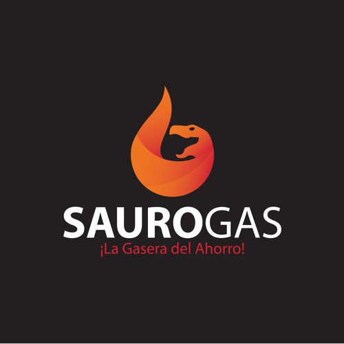 Gas station logo with the title 'Bold and modern logo for sauro gas'