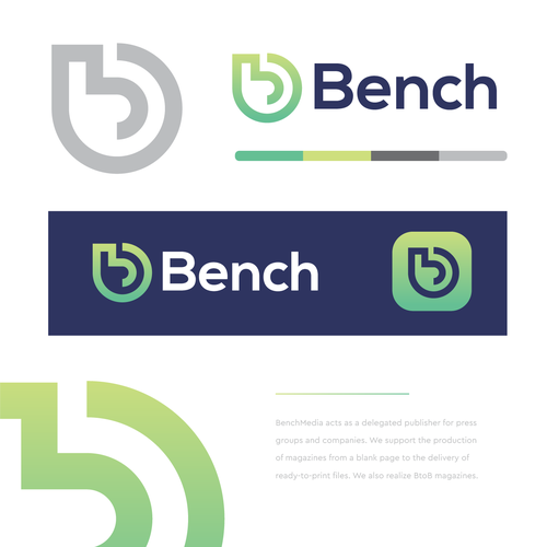 Pictogram logo with the title 'Bench'