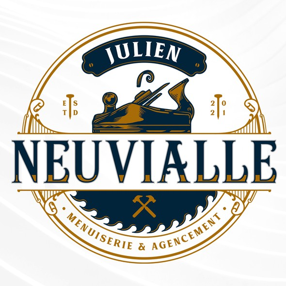 Saw design with the title 'JULIEN NEUVIALLE'