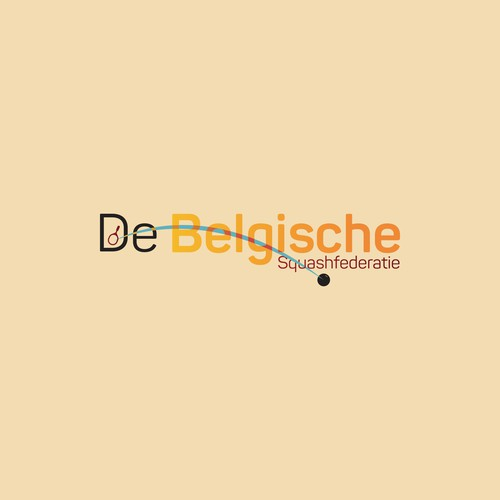 Squash logo with the title 'De Belgische Squashfederatie'