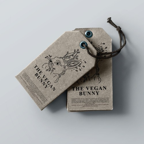 Leaf design with the title 'The Vegan Bunny'