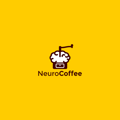 Coffee logo with the title 'Neuro coffe concept logo'