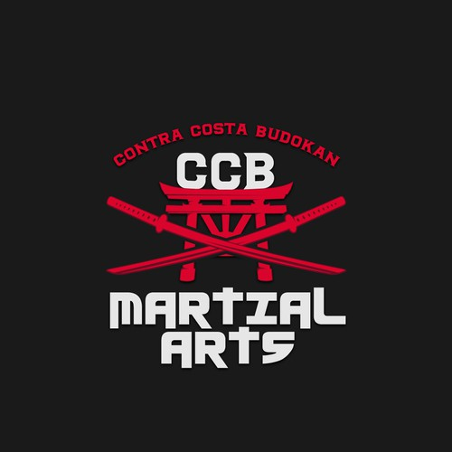 Martial arts logo with the title 'CCB MARTIAL ARTS'