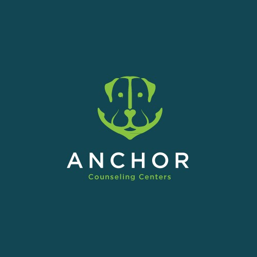 Labrador logo with the title 'Anchor and Labrador Concept Logo for Anchor Counseling Centers'