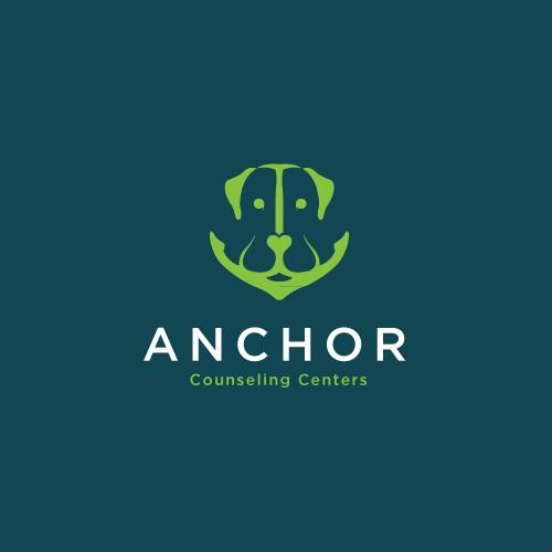 Labrador logo with the title 'Anchor and Labrador Concept Logo for Anchor Counseling Centers'