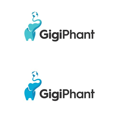 Design with the title 'GigiPhant'