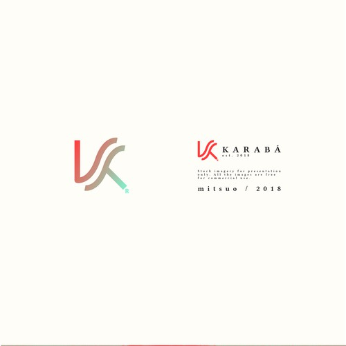 Green and red logo with the title 'KARABÁ \ Brand Logo'