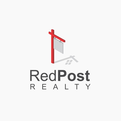 Sign logo with the title 'Clever Logo for Real Estate Company'