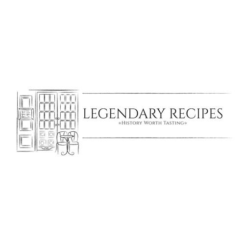 Paris logo with the title 'Logo concept for Legendary recipes website'