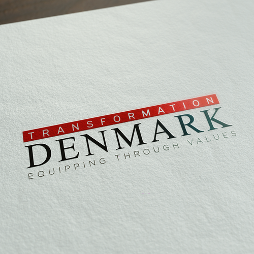 Value design with the title 'Tansformation Denmark Logo'
