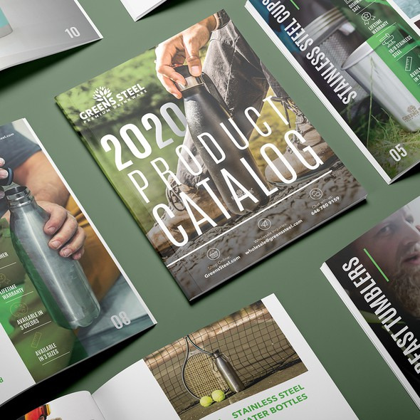 Product catalog design with the title 'Product Catalog'