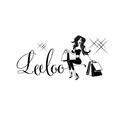 Shopping logo with the title 'Fashion Logo'