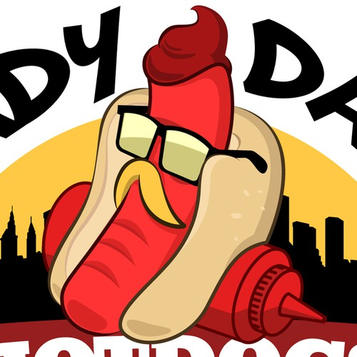 Hot dog logo with the title 'SHADY DAWG'