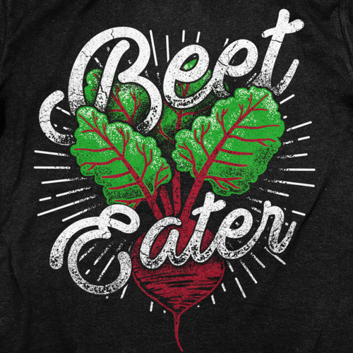 Vegetarian t-shirt with the title 'Healthy Lifestyle Beets'
