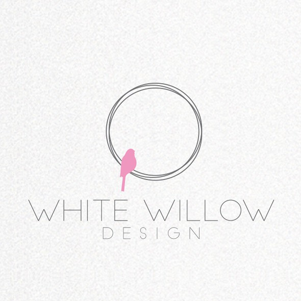 Minimalist logo with the title 'Create an inspiring and fun identity for White Willow Kids - making kids spaces sparkle!'