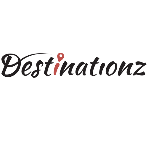 Destination logo with the title 'Simple Logo Concept for Travel Agency'