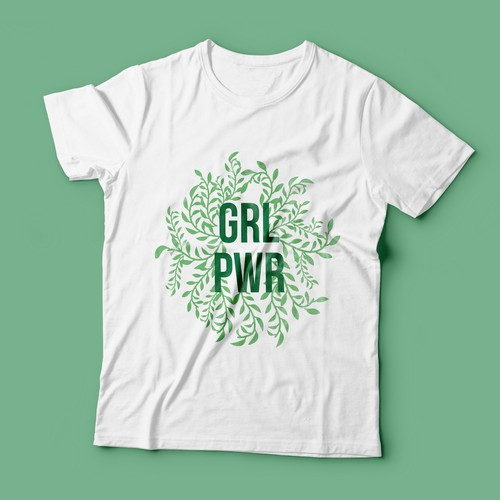 Girl power design with the title 'T-shirt design for women empowerment'