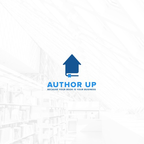 Author logo with the title 'Book Up'