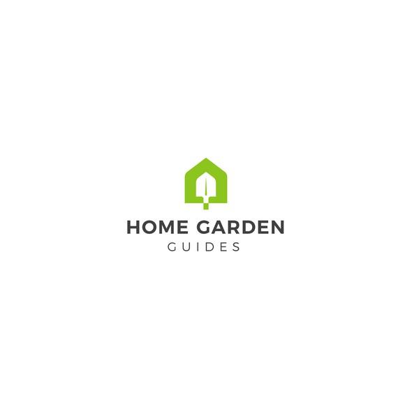 Gardener logo with the title 'Home Garden Guides Logo'