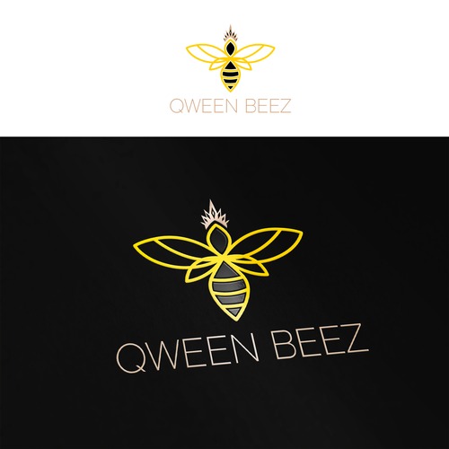Queen logo with the title 'Qween Beez'