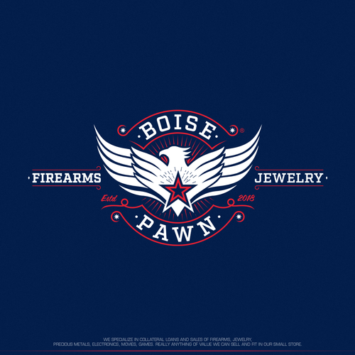 Patriotic design with the title 'Logo design for Boise Pawn'