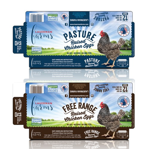 Redesigned packaging with the title 'PASTURE RAISED EGGS'