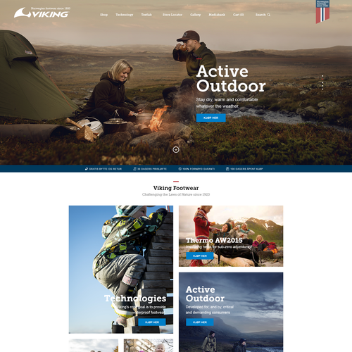 Tourism design with the title 'Amazing eCommerce homepage'