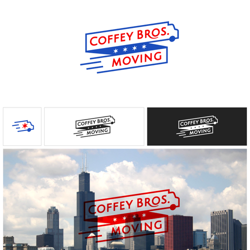 Moving design with the title 'Logo design proposal for a moving company'