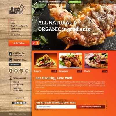 Creative restaurant website design